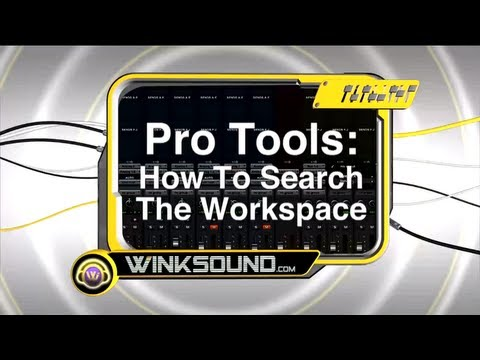 Pro Tools: How To Search the Workspace