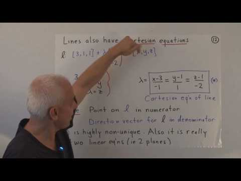 WildLinAlg10e: Equations of lines and planes in 3D (cont.)