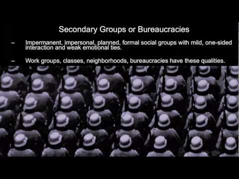 Sociological Theory:  Tradtional Primary Groups and Modern Bureaucracies