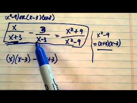 solve this? x/x+3 - 3/x-3 =x²+9/x² - 9