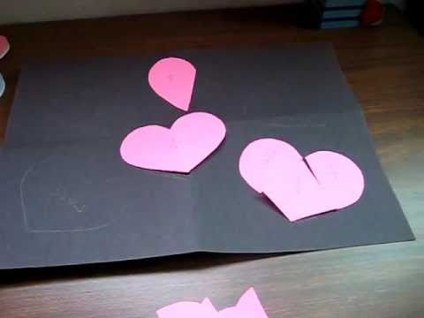 Valentine. Heart fractions