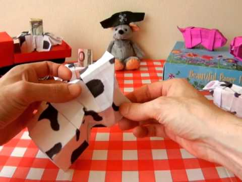 Origami Cow Bank