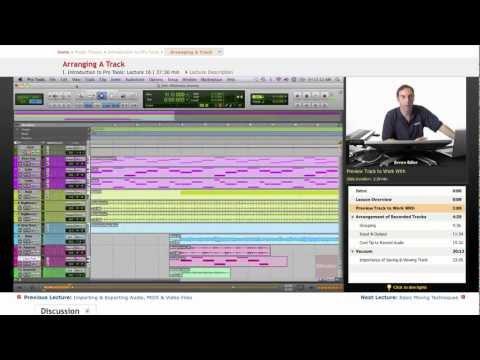 Pro Tools: Arranging A Track