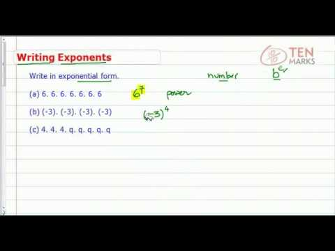 Write Exponents