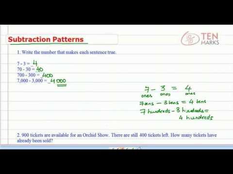 Subtraction Patterns