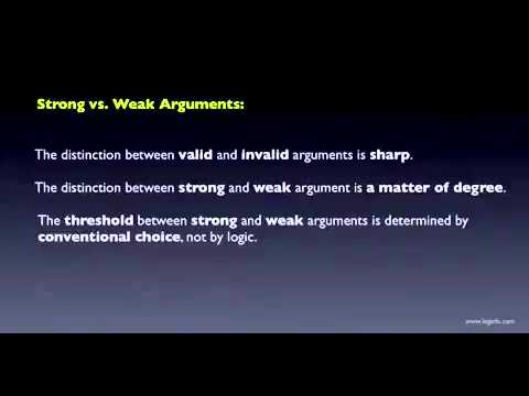 Saylor BUS210: What is a STRONG Argument?