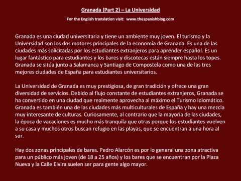 Spanish English Parallel Texts Granada (Part 2) La Universidad