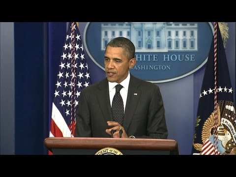 Watch President Obama Speak on the Supercommittee Failure