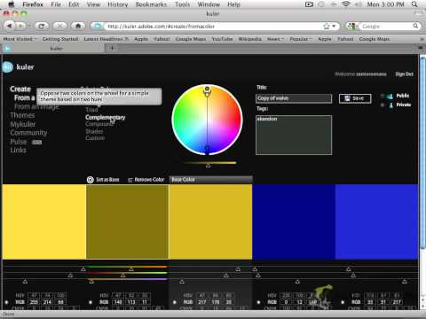 Photoshop for the Web - Color Scheme Part 2