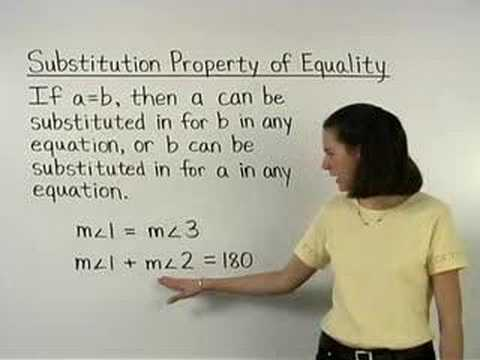 Substitution Property of Equality - YourTeacher.com - Math Help