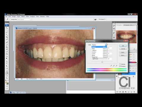 Photoshop Tutorial : How to whiten teeth