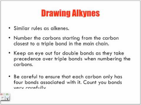 Naming & Drawing Alkyne Hydrocarbons