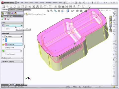 Solidworks 2012 Tutorial | Shell Part 2