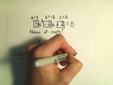 Using the Discriminant to Predict the Types of Solutions to a Quadratic Equation - Example 1