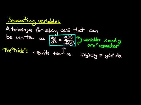 ODE | Separating variables idea