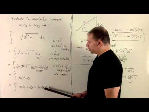 Trig Substitution 4 - Integral of sqrt(e^{2x} - 1)