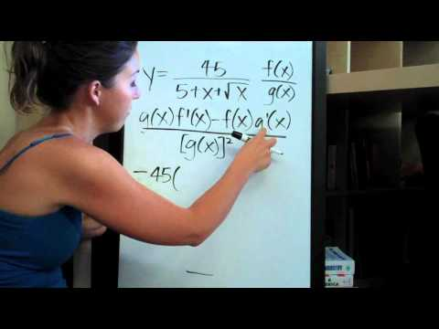 Quotient Rule Example 7