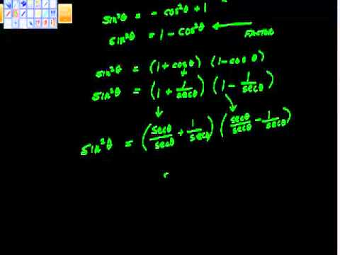 Writing Trig functions in terms of other functions Precalculus Trigonometry