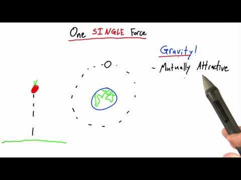 One Single Force - Intro to Physics - What causes motion - Udacity