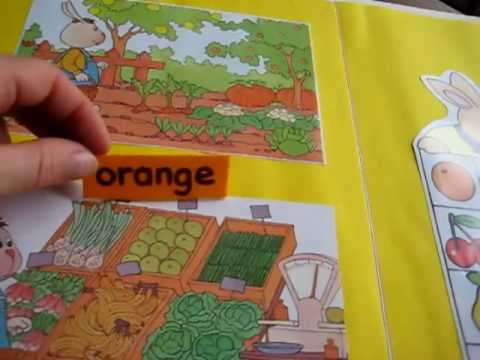 Toddler-Reading. Food file folder
