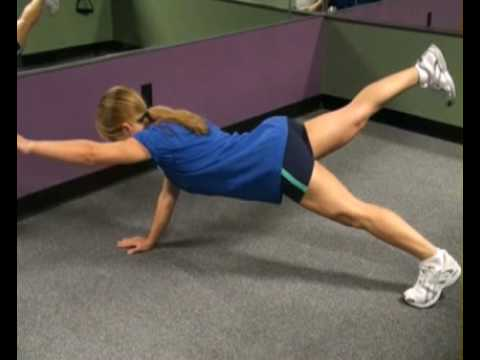 Plank Position Extensions  Single Arm & Leg Side : BeYourTrainer.com