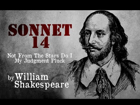 Pearls Of Wisdom - Sonnet 14 - Not From The Stars Do I My Judgment Pluck by William Shakespeare
