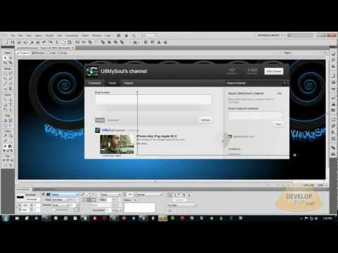 New 2012 Youtube Channel Layout Design Customize Web Template Tutorial