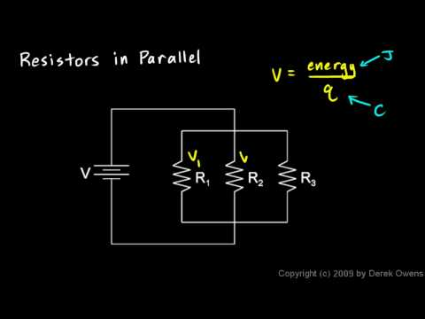 Physics 13.4.2b - Resistors in Parallel