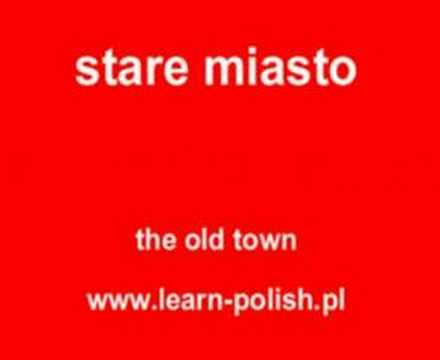 Old town in Polish