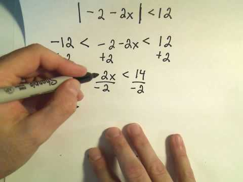 Solving Absolute Value Inequalities - Example 2