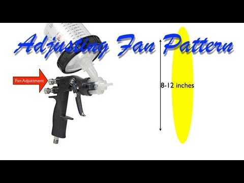 Setting Fan Pattern on a Spray Gun for Spraying Automotive Primer, Base Coat, and Clear Coat