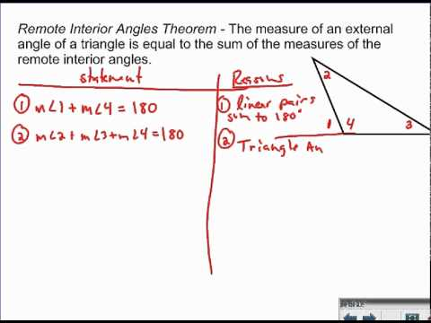 Remote Interior Angles Theorem - Proof