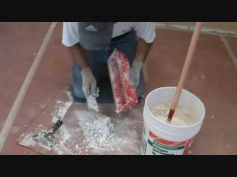 Tips on using sheetrock mud...out of a pan