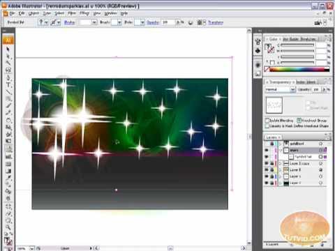 Retro/Glam Sparkles and Shines! Illustrator Tutorial!