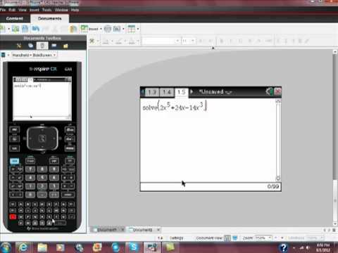 Solving Polynomial Equations with Your Ti Nspire CAS CX