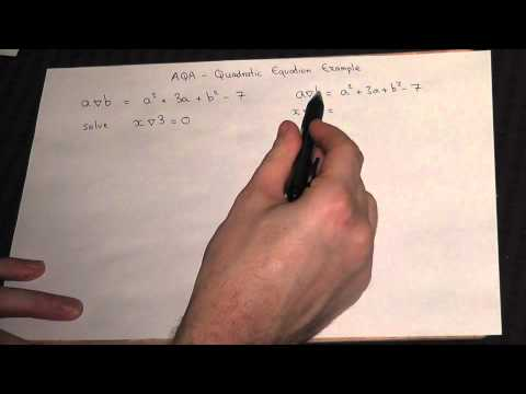 Quadratic equations - typical problem from AQA UNIT 2