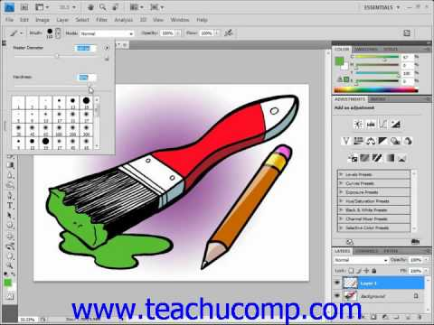 Photoshop Tutorial The Brush Tool Adobe Training Lesson 5.2