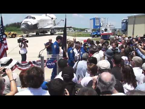 The Last Shuttle Crew Addresses Kennedy Space Center