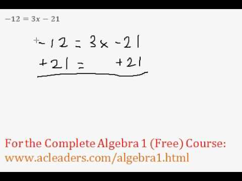 Two-Step Equations (Algebra Review)