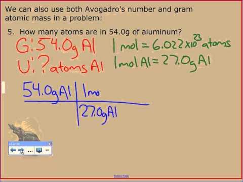 vodcast 3 2 gram atomic mass ipad