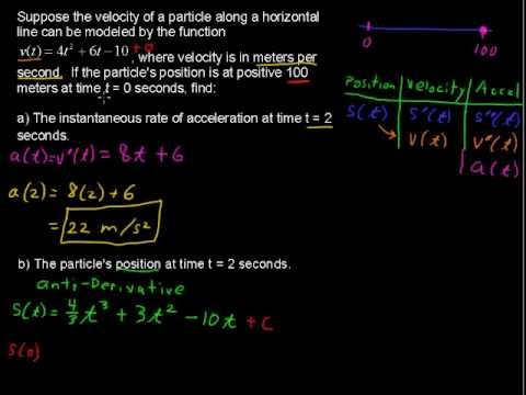 Using Derivatives to Find Acceleration - How to Calculus Tips