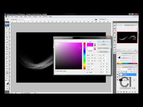 Photoshop tutorial : How to make colorful glowing neon lines [HD]