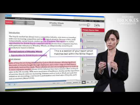 Oxford Brookes University: How to Interpret Turnitin reports
