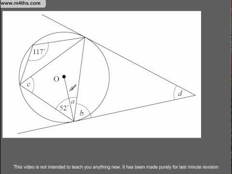 Q294 A Star GCSE Revision Circle Theorem much harder example
