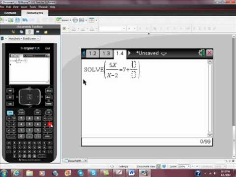 Solving a Rational Equation with Your Ti Nspire CAS CX