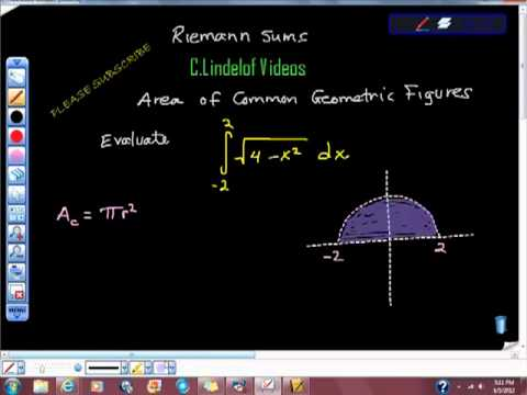 Riemann Sums Area of Common Geometric Figures Pt II