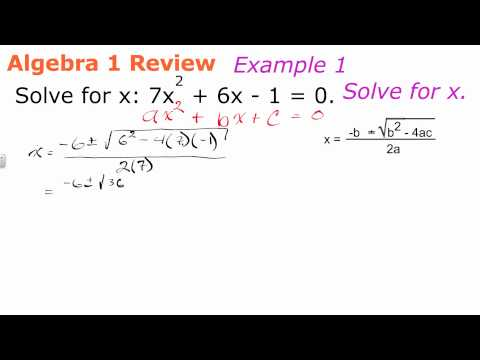 Solving Quadratic Equations with the Qudaratic Formula | Geometry How to Help Algebra