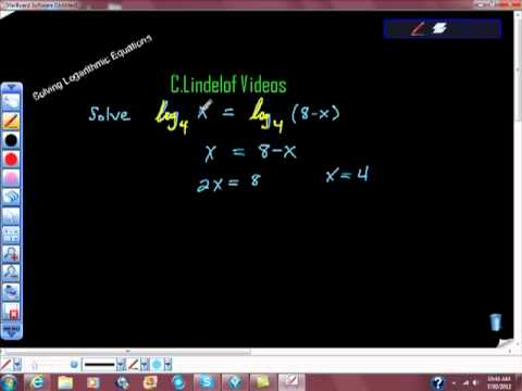 Solving Logarithmic Equations pt II