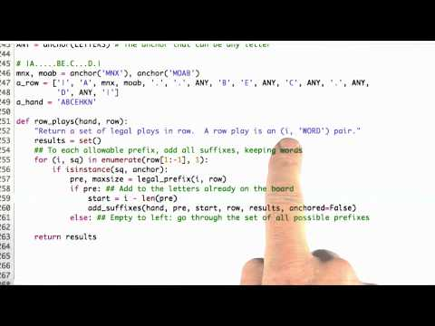 Row Plays - CS212 Unit 6 - Udacity