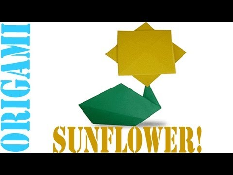 Origami Daily - 302: Easy Sun Flower (Kids Origami) - TCGames [HD]